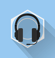 Gaming Gear Flat Icon Headphone vector image vector image
