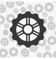 gears and pattern background image vector image