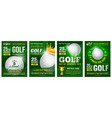 golf poster set vector image