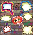 graffiti thought bubbles vector image vector image