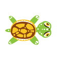 green turtle with out stretched flippers vector image vector image