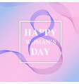 happy womens day design elements created using vector image vector image