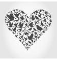Heart a bird2 vector image vector image