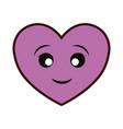hearts and love cartoon vector image vector image