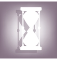 Hourglass icon with shadow vector image vector image