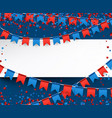 independence day background with flags vector image vector image