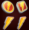 lightning bolt icons vector image vector image
