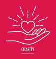 logo template for charity vector image vector image
