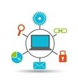 notebook technology social media concept vector image vector image