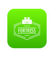 old fortress icon green vector image vector image