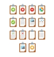 Paper icons Document icon EPS10 vector image vector image