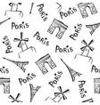 paris city seamless pattern travel france tile vector image vector image
