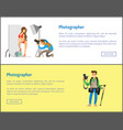 photographer making photo session girl in bikini vector image vector image