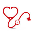 red stethoscope health icon logo vector image vector image