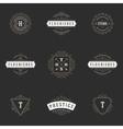 Royal Logos Design Templates Set Flourish vector image vector image
