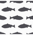 salmon fish silhouette seamless pattern vector image