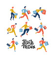 set male people carrying shopping bags vector image vector image