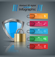 shield security - business paper infographic vector image