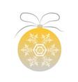 single gold-silver christmas tree ball vector image vector image