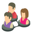 social people icon isometric 3d style vector image