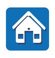 square button facade house icon design vector image vector image