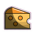 sticker delicious and taste cheese food vector image vector image