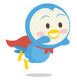 Super dove character art vector image