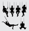 swing silhouette vector image