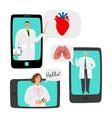 telemedicine online doctors consultation vector image