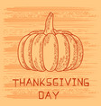 thanksgiving day in united states of america vector image
