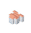 the smart building home vector image vector image