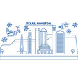 usa texas houston winter city skyline merry vector image vector image