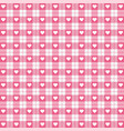 valentine day tartan plaid pattern scottish cage vector image vector image