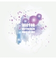 Violet watercolor splash format for your design vector image vector image