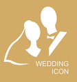 wedding icon gold vector image vector image