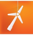 wind turbine icon eco concept vector image vector image