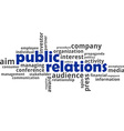 word cloud public relations vector image vector image