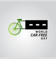 world car free day template design vector image vector image