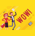 wow business motivation poster vector image