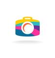 Digital photo camera colorful sign vector image