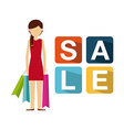 shopping people design vector image