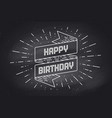 vintage ribbon with text happy birthday vector image