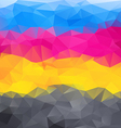 abstract background in cmyk colors vector image