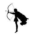 elf silhouette ancient mythology fantasy vector image