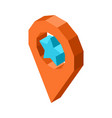 favorite geolocation icon with blue star inside vector image