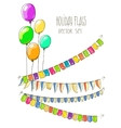 colorful flag garlands and vector image
