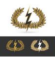 olive branch with thunder symbol of greek god zeus vector image