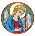 archangel colored drawing vector image