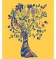 Autumn tree card vector image