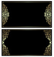 black and gold cards vector image vector image